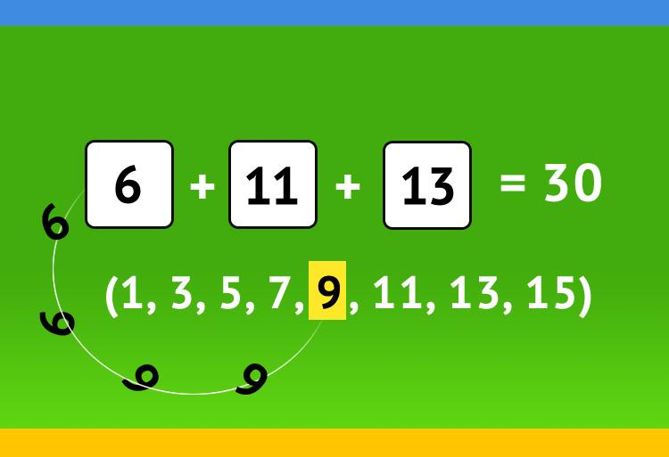 ? + ? + ? = 30 решение