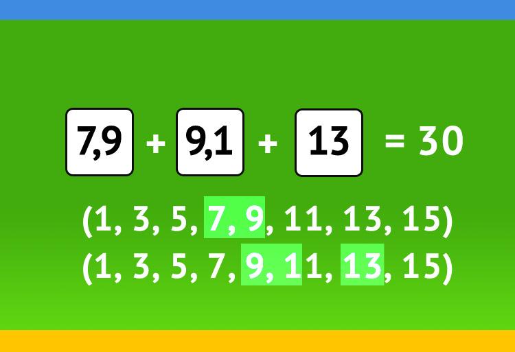 X+X+X=30 вариант решения с десятичными дробями